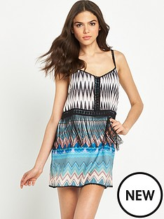 river-island-double-layer-fringed-beach-dress