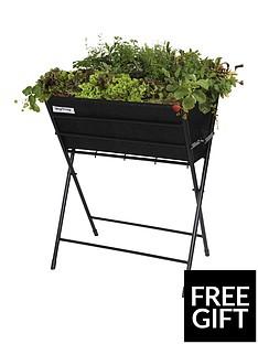 vegtrug-poppy-planter-with-black-felt-plus-10-packets-of-tampm-seeds-worth-pound25