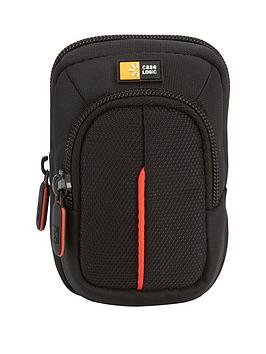 Case Logic Nylon Camera Case Small W Accessory Pocket BlackRed