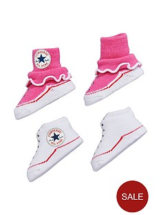 converse-converse-baby-girls-pk-2-booties-gift-set