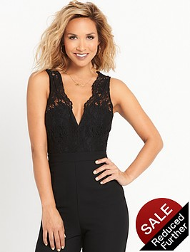 myleene-klass-lace-top-jumpsuit-black