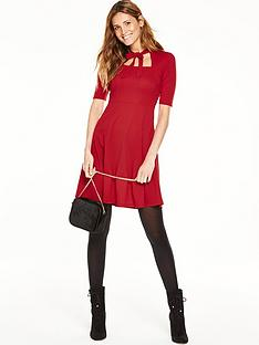 v-by-very-textured-square-neck-skater-dress