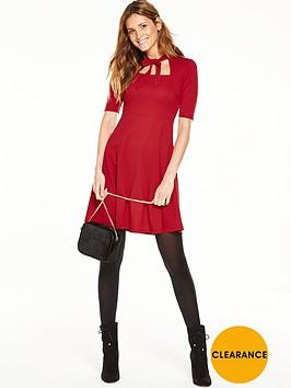 v-by-very-textured-square-neck-skater-dress