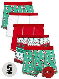 mini-v-by-very-boys-fairislenbspsanta-trunks-5-pack