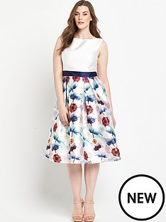 chi-chi-london-curve-chi-chi-curve-fit-and-flare-midi-dress