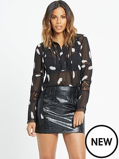 rochelle-humes-lace-and-tie-front-blouse