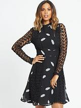Guipure Lace Midi Dress