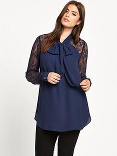 so-fabulous-lace-sleeve-and-back-yoke-pussybow-blouse
