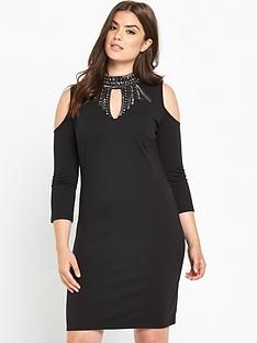 so-fabulous-keyhole-embellished-bodycon-dress-black