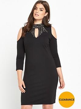 v-by-very-curve-keyhole-embellished-bodycon-dress-black