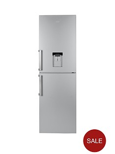 beko-cfp1691ds-60cm-frost-free-fridge-freezer-next-day-delivery-silver