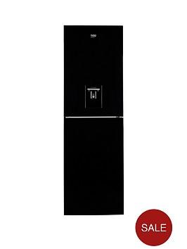 beko-cfe1691db-60cm-frost-free-fridge-freezer-with-water-dispenser-black