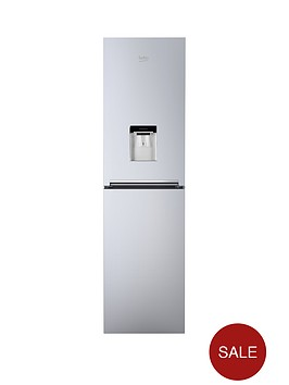 beko-cfg1582ds-55cm-frost-free-fridge-freezer-with-non-plumbed-water-dispensernbsp--silver
