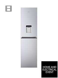 beko-cfg1582ds-55cm-wide-frost-free-fridge-freezer-with-water-dispenser-silver