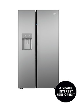 beko-asgn542s-frost-free-american-stylenbspfridge-freezer-with-non-plumbed-water-and-ice-silver