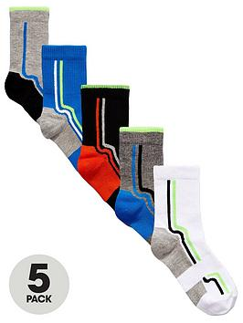 V By Very Boys Sport Tech Socks (5 Pack)