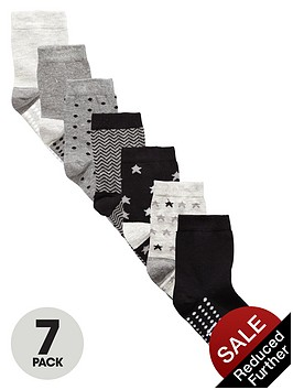 v-by-very-boys-grey-star-socks-7-pack