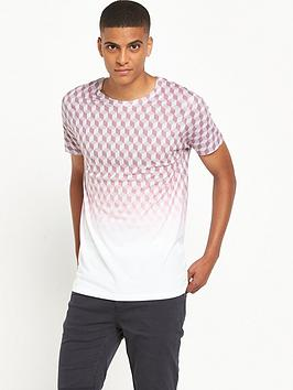 river-island-geo-fade-short-sleeve-t-shirt