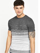 Scribble Fade Printed Short Sleeve T-Shirt