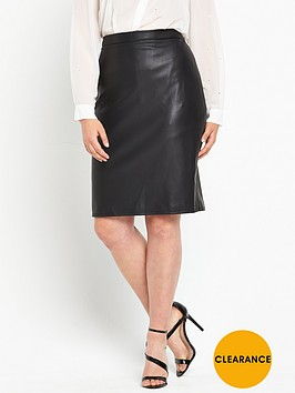 v-by-very-curve-pu-pencil-skirt-black