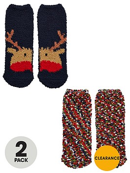 mini-v-by-very-boys-reindeer-and-popcorn-cosy-socks-2-pack
