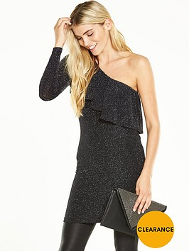 v-by-very-one-sleeve-metallic-tunic-with-frill-detailnbsp