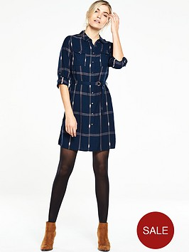 v-by-very-belted-check-shirt-dress