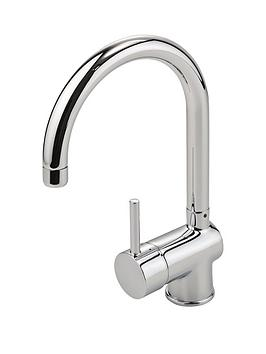 Eisl Top Fix Single Lever Kitchen Mixer Tap With Swan Neck Swivel Spout