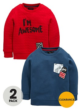 mini-v-by-very-boys-quilted-and-badgednbspsweat-tops-2-pack