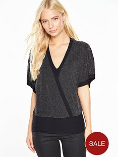 v-by-very-metallic-banded-hem-v-neck-top