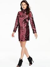 Sequin Bow Shift Dress