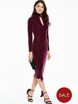v-by-very-velvet-high-neck-midi-dress