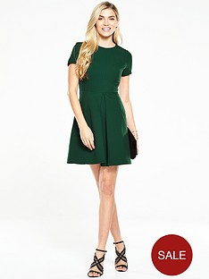 v-by-very-short-sleeve-mini-skater-dress