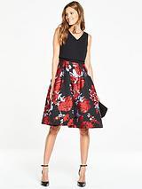 2 in 1 Jaquard Prom Dress