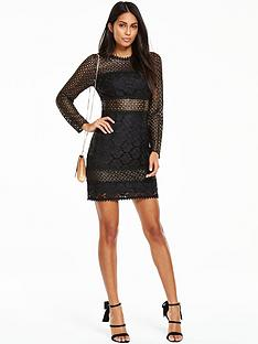 v-by-very-lace-panel-bodycon-dress