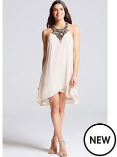 little-mistress-embellished-neck-halter-dress-beige