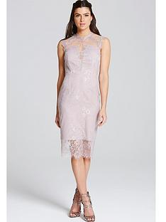 little-mistress-lace-neck-bodycon-dressnbsp