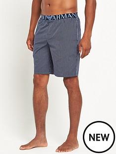 emporio-armani-check-woven-short