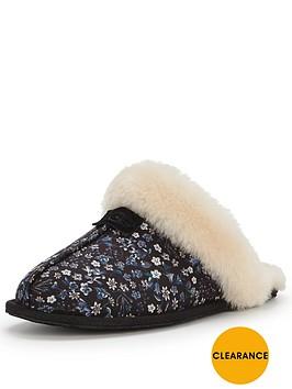 ugg-scuffette-liberty-print-slipper-black