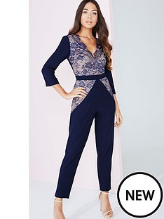 little-mistress-little-mistress-lace-pane-jumpsuit