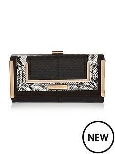 river-island-black-mono-snake-insert-bar-purse