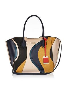 river-island-swirl-patchwork-metal-edge-tote
