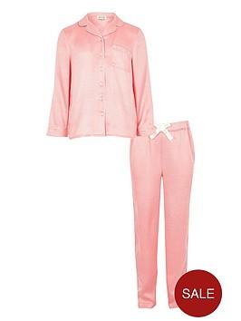 river-island-girls-pink-jacquard-pyjama-set