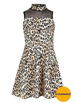 river-island-girls-leopard-print-mesh-panel-scuba-dress