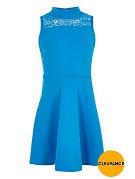 river-island-girls-blue-lace-panel-scuba-dress
