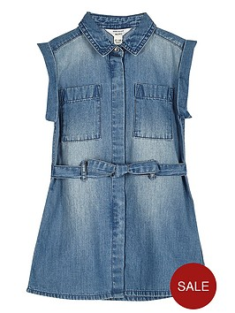 river-island-mini-girls-belted-blue-wash-denim-dress