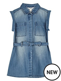 river-island-mini-mini-girls-blue-wash-belted-denim-dress