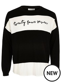 river-island-girls-black-word-panel-jumper