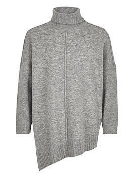 river-island-girls-grey-knit-asymmetric-hem-tunic