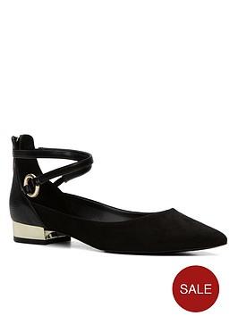 aldo-biacci-pointy-toe-strappy-ballerina